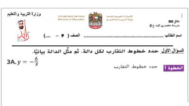 Photo of صف تاسع فصل ثاني رياضيات أوراق عمل الدوال النسبية