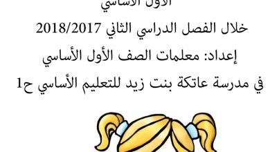 Photo of صف أول فصل ثاني لغة عربية مراجعة شاملة