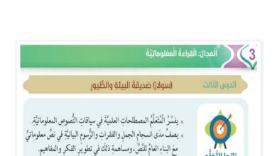 Photo of صف سابع فصل ثاني لغة عربية قراءة معلوماتية سولار صديقة البيئة