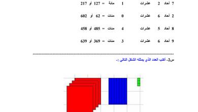 Photo of صف ثاني فصل ثاني رياضيات ورق عمل