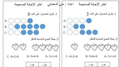 Photo of صف أول فصل أول رياضيات أوراق عمل اختيار متعدد