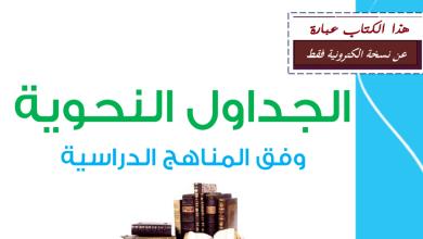 Photo of كتيب الجداول النحوية لغة عربية