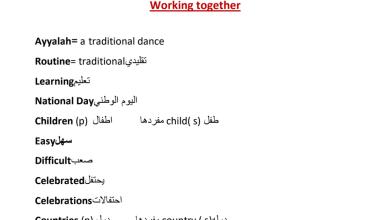 Photo of صف رابع فصل أول لغة عربية أوراق عمل الوحدة الأولى