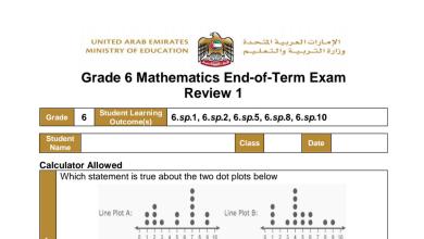 Photo of صف سادس مراجعة نهاية الفصل الأول رياضيات منهج إنجليزي