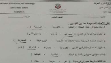 Photo of سادس دراسات اجتماعية نموذج امتحان