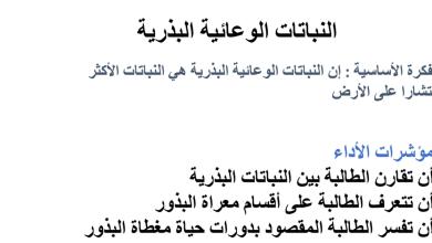 Photo of عاشر أحياء تلخيص النباتات الوعائية  البذرية