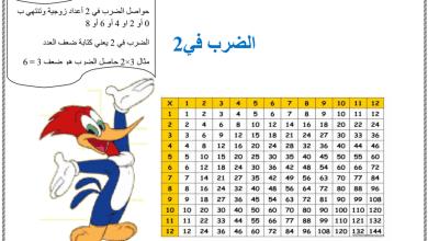 Photo of ورق عمل الضرب والقسمة في 2 رياضيات صف ثالث فصل أول