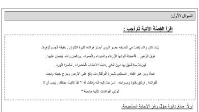 Photo of تدريبات قراءة لغة عربية صف ثالث فصل أول