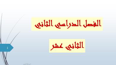 Photo of حلول الدروس لغة عربية صف حادي عشر فصل ثاني