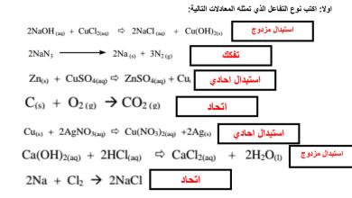 Photo of ورق عمل درس انواع التفاعلات الكيميائية علوم صف ثامن فصل أول