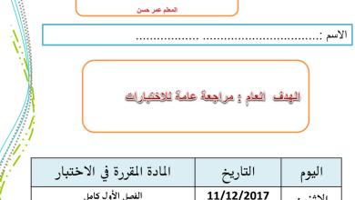 Photo of مراجعة شاملة دراسات اجتماعية نهاية الفصل الأول صف رابع