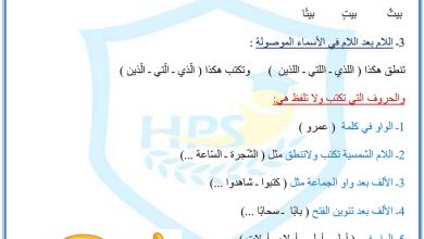 Photo of مراجعة وتدريبات على القواعد لغة عربية صف رابع فصل أول