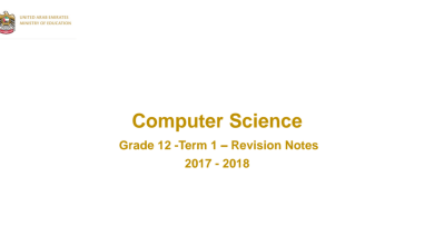 Photo of ملخص في مادة الكمبيوتر للصف الثاني عشر الفصل الدراسي الاول