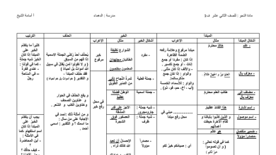 Photo of ملخص النحو الفصل الأول لغة عربية صف ثاني عشر