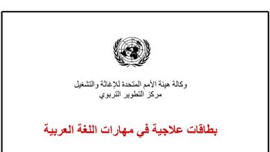 Photo of بطاقات علاجية في مهارات اللغة العربية الفصل الأول للصف السادس