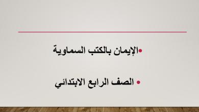 Photo of درس الإيمان بالكتب السماوية تربية اسلامية فصل أول صف رابع