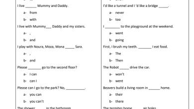 Photo of أوراق عمل قواعد على نفس صيغة الامتحان الوزاري لغة إنجليزية للصف الثالث