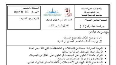 Photo of مراجعة شاملة الفصل الثالث مع الحل علوم خامس