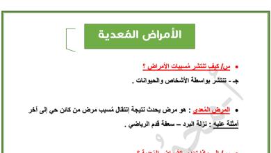 Photo of تلخيص الأمراض المعدية أحياء صف ثاني عشر عام