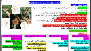 Photo of مراجعة الفصل الثاني علوم صف ثامن
