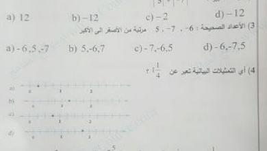 Photo of امتحان وزاري الفصل الثاني رياضيات للصف السادس 2017