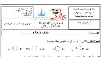 Photo of ورقة عمل (الأعداد النسبية والمستوى الإحداثي) رياضيات للصف السادس