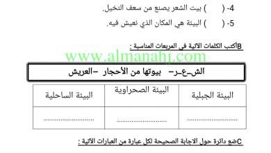 Photo of ورق عمل المسكن الإماراتي دراسات اجتماعية للصف الثاني الفصل الثالث