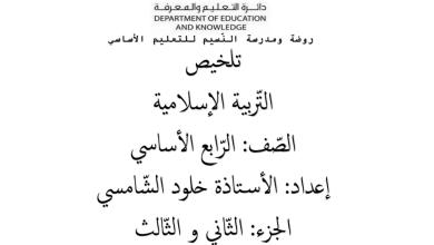 Photo of تلخيص الجزء الثاني والثالث تربية إسلامية صف رابع