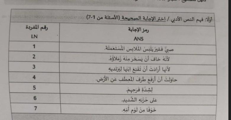 دليل تصحيح لغة عربية سادس فصل ثالث 2019