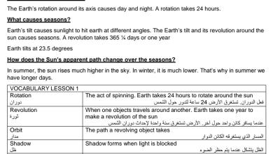Photo of ملخص الوحدة 11 علوم منهج إنجليزية صف رابع فصل ثالث