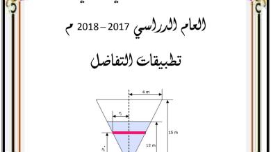Photo of ملزمة تطبيقات التفاضل رياضيات صف ثاني عشر متقدم فصل ثاني