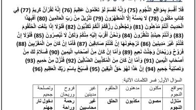 Photo of ملخص تربية إسلامية صف تاسع فصل ثالث