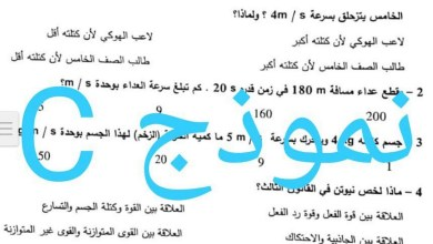 Photo of امتحان نهاية الفصل الثالث 2018 علوم صف خامس
