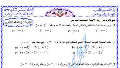 Photo of مراجعة نهائية للفصل الثاني رياضيات صف حادي عشر متقدم.