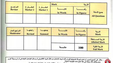 Photo of امتحان نهاية الفصل الثالث 2017 – 2018 رياضيات صف حادي عشر متقدم