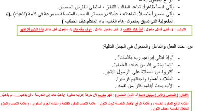 Photo of تلخيص النحو لغة عربية للفصل الثاني صف ثاني عشر