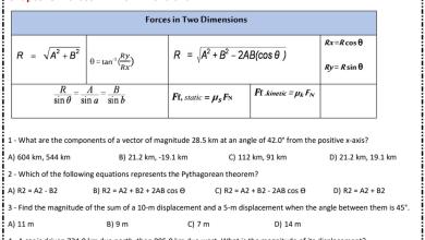 Photo of أوراق عمل مراجعة للفصلين الثاني والثالث فيزياء صف تاسع متقدم