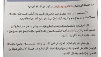 Photo of امتحان  لغة عربية الصف الثالث الفصل الثالث 2018 – 2019