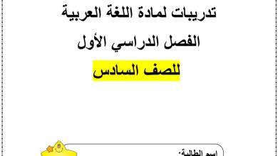 Photo of أوراق نشاط تعزيزية وإثرائية لغة عربية صف أول فصل أول