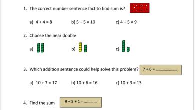 Photo of امتحان تجريبي نهاية الفصل الأول رياضيات منهج إنجليزي صف ثاني