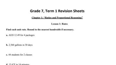 Photo of أوراق عمل رياضيات منهج إنجليزي صف سابع فصل أول