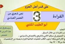 Photo of حل درس على قدر اهل العزم لغة عربية فصل أول صف ثاني عشر