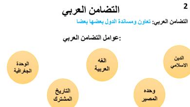Photo of ملخص درس التضامن العربي دراسات اجتماعية صف تاسع فصل أول