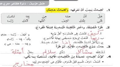 Photo of حل درس دعوة للتفكير خارج الصندوق كتاب النشاط لغة عربية