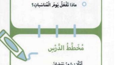 Photo of حل درس أيام أحبها دراسات اجتماعية وتربية وطنية صف اول