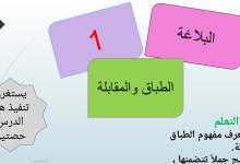 Photo of حل درس الطباق والمقابلة لغة عربية صف عاشر فصل ثاني