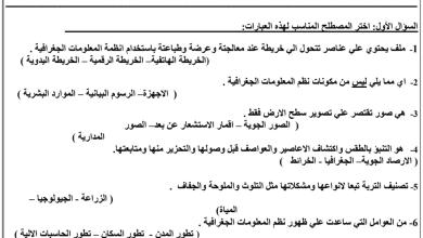 Photo of ورق عمل دراسات اجتماعية صف سابع فصل ثاني