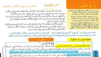 Photo of حل درس كتابة نص وصفي يوم لا ينسى لغة عربية صف ثالث فصل ثاني
