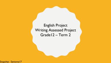 Photo of مهارات كتابية لغة إنجليزية صف ثاني عشر فصل ثاني