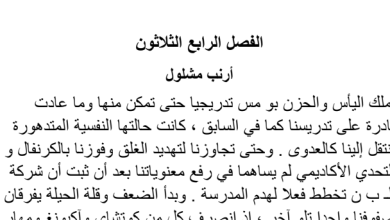 Photo of تلخيص الفصل الرابع والثلاثون أرنب مشلول|عساكر قوس قزح